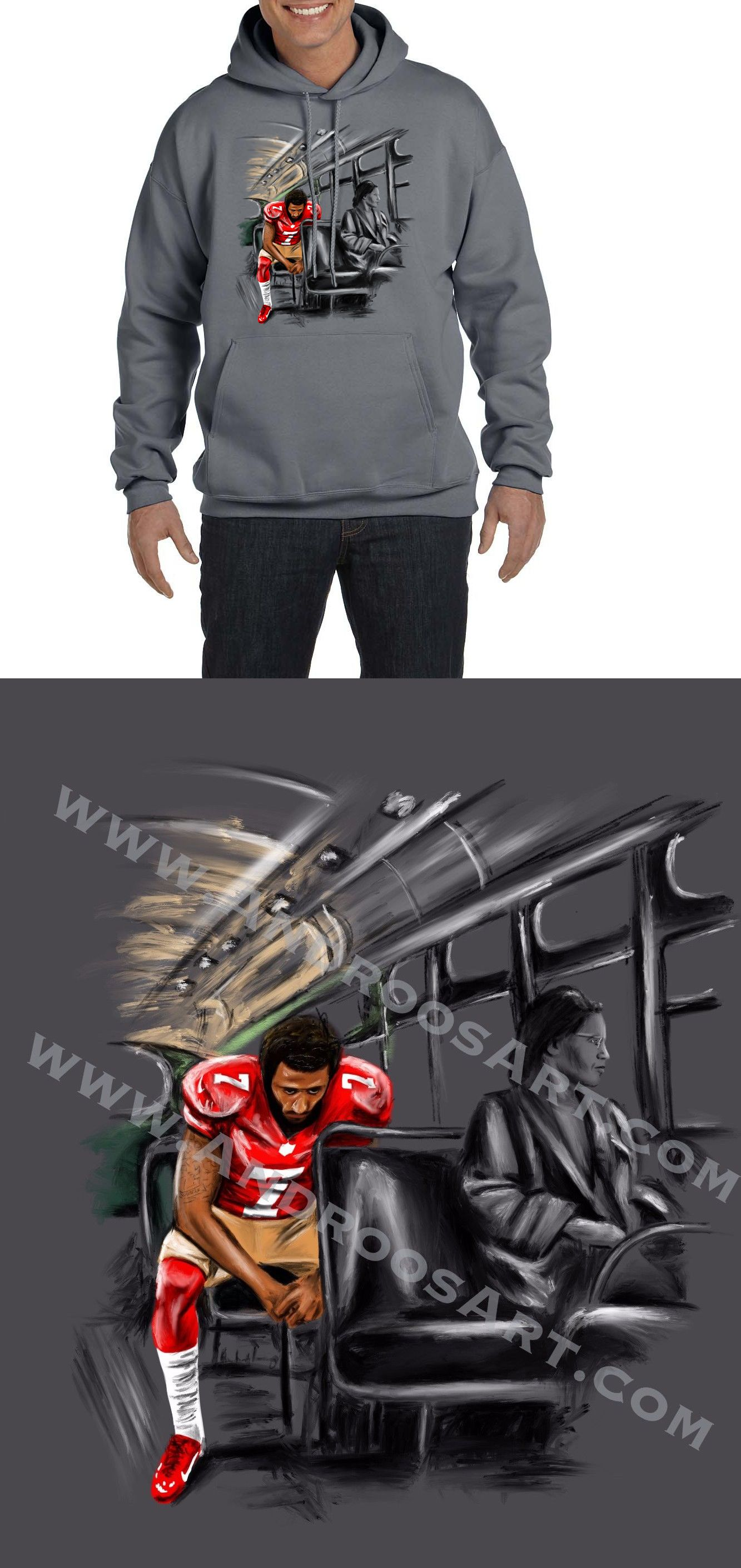 Stand by Sitting Colin Kaepernick Rosa Parks Charcoal Gray Unisex Hoodie