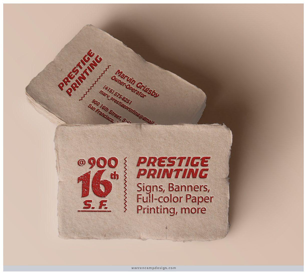 Printshop: For a San Francisco printshop owner, Warren designed a ...