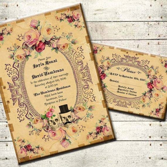 spooktacular halloween wedding invitations til death do us part