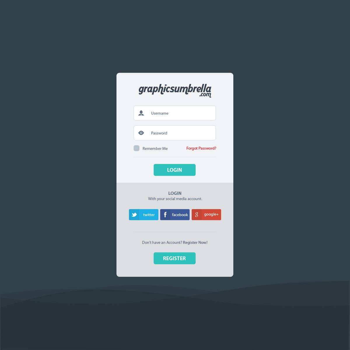 psd login form and register form template free download
