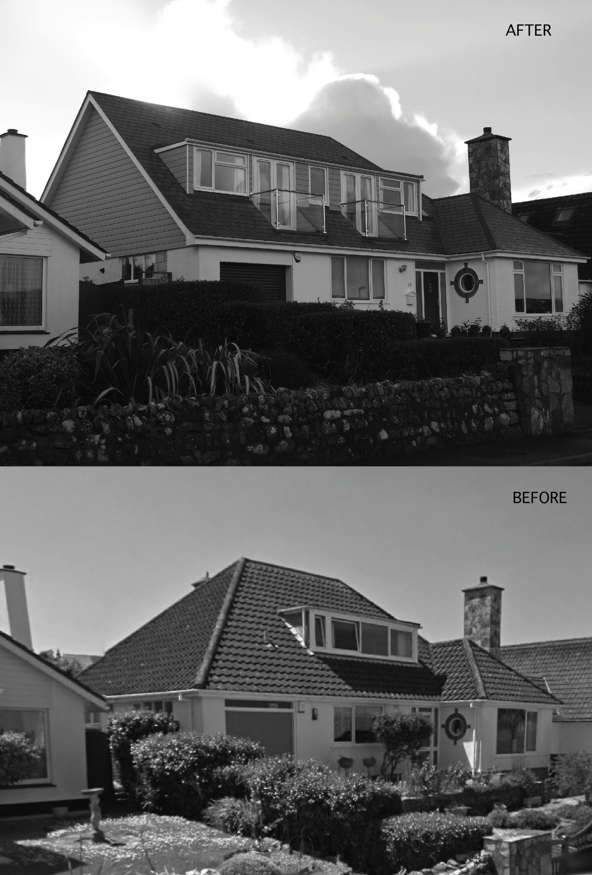 Roof Extension By Replacing Hipped End With Gable And Enlarging Dormers With Balconies House With Balcony Hip Roof Dormer Roof