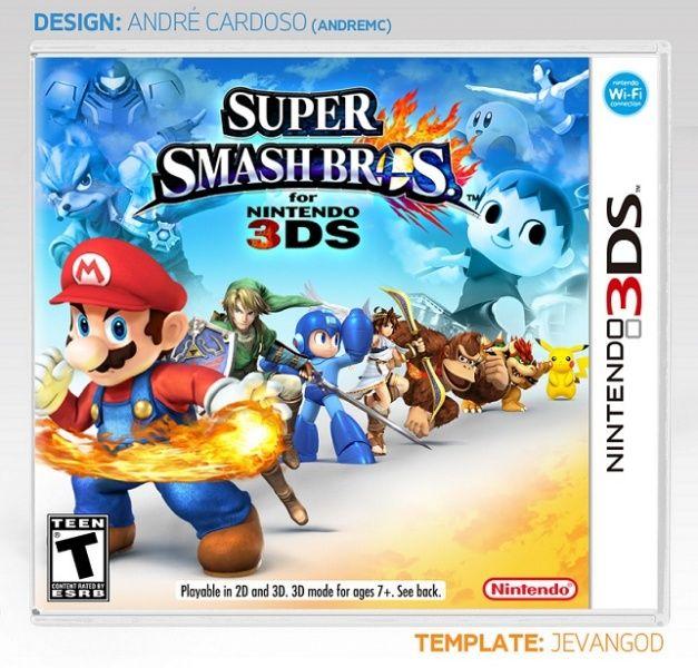 Super Smash Bros For Nintendo 3ds Nintendo 3ds Box Art Cover By