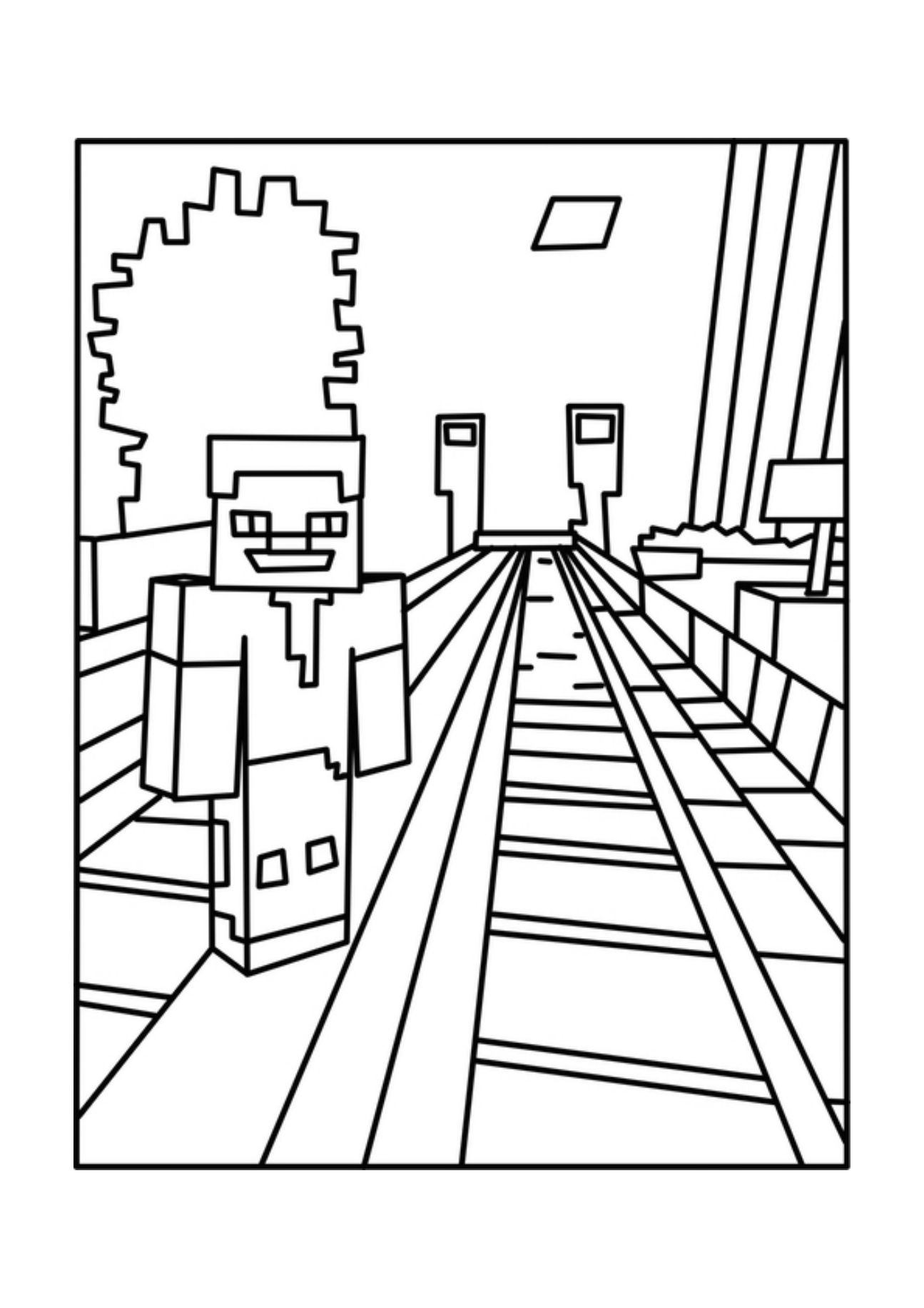 Printable Minecraft Coloring Page