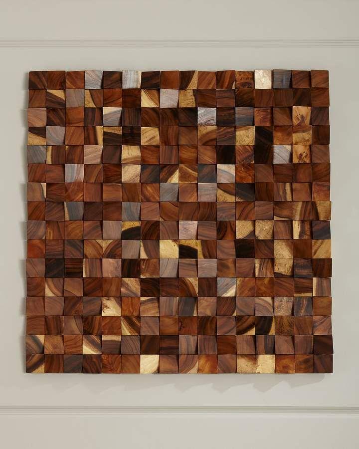 Wood Blocks Wall Panel Decor In 2019 Products Wood Blocks