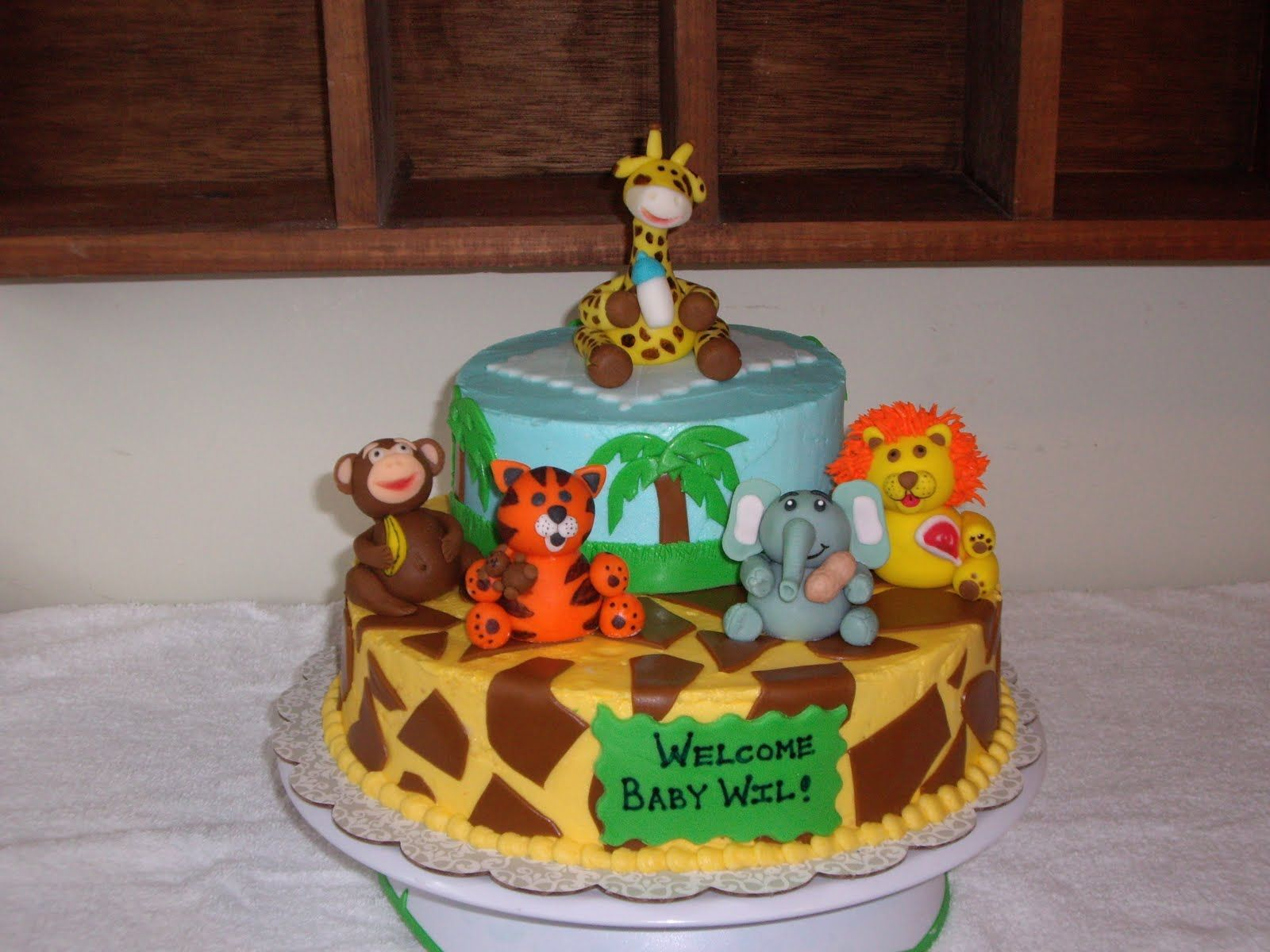 Baby Shower Cakes Zoo Animals Zoo animal baby shower cakes for a