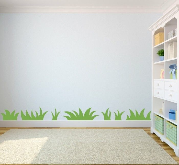 Residential Ideas Nursery Wall Painting Grass Open Shelf Storage Ideas Childrens Wall Murals Kids Room Wall Art Wall Kids