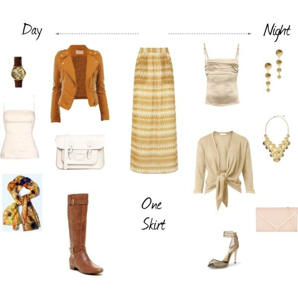 One Skirt - Day & Night Outfits #ootd
