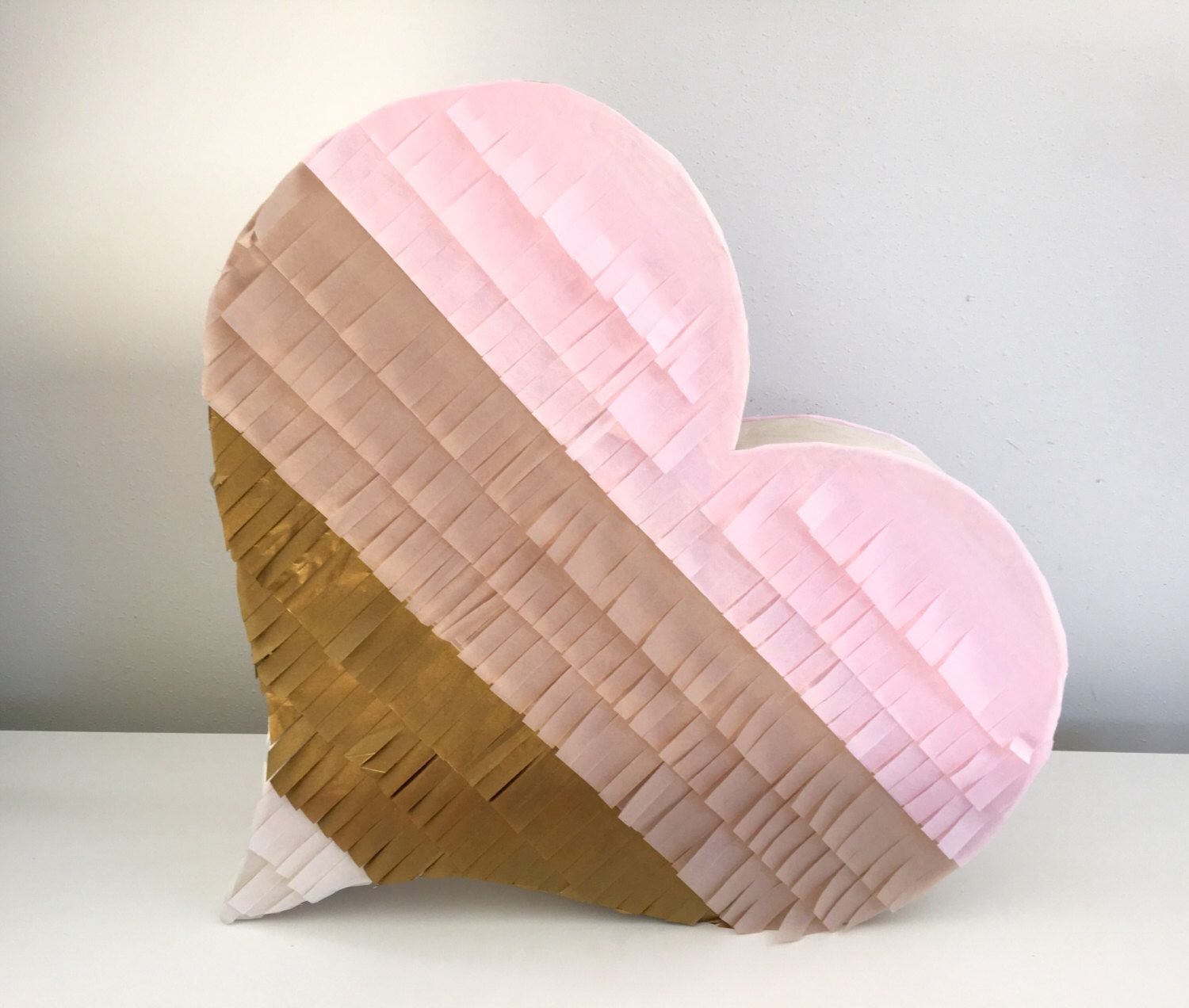 wedding pinata Wedding Pinata Wedding Guest Book Pinata Blush Baby Pink Antique Gold and Ivory Heart Pi ata Heart Shaped Pi ata Blush Wedding Pi ata