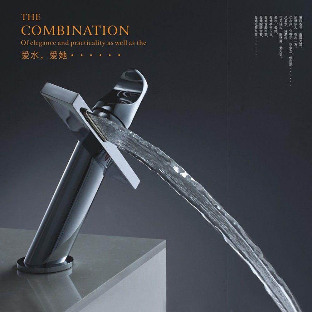 Bakala Modern Washbasin Design Bathroom Faucet Mixer Waterfall Hot And Cold Water Taps For Basin Of