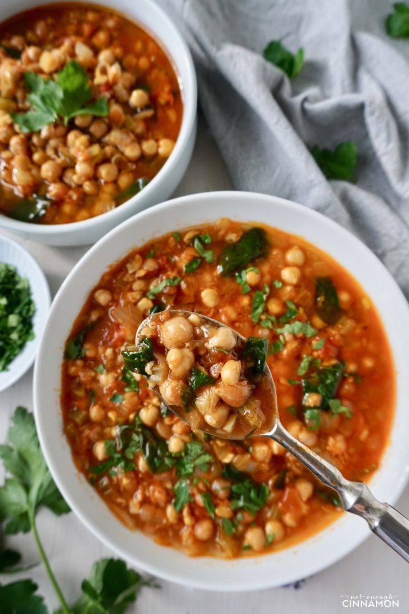 Moroccan Spiced Chickpea Soup Vegan Gluten Free