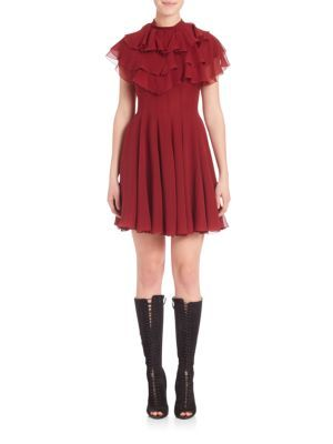 GIAMBATTISTA VALLI Ruffled Silk Dress. #giambattistavalli #cloth #dress