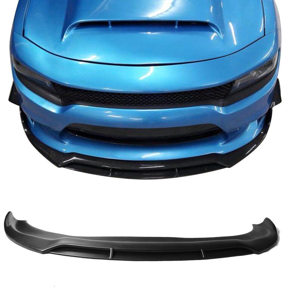 Fits 15 19 Dodge Charger Srt Front Bumper Lip Ikon V2 Style Unpainted Pp Charger Srt Dodge Charger Dodge Charger Srt