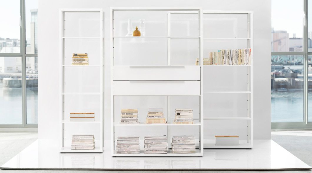 Display Of Fj 196 Lkinge White Shelving Units With Or Without