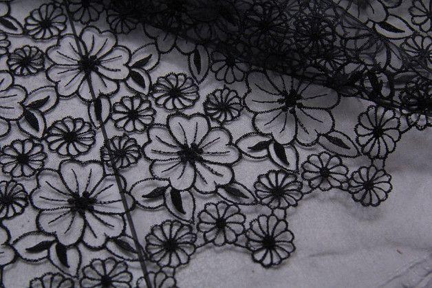 hb421 stickerei blumen organza spitze stoff 135cm silk pinterest spitze stoff spitze und. Black Bedroom Furniture Sets. Home Design Ideas