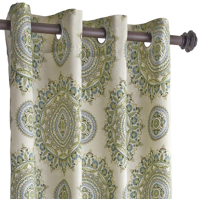 Margaritte medallion curtain blue pier in curtains bathroom