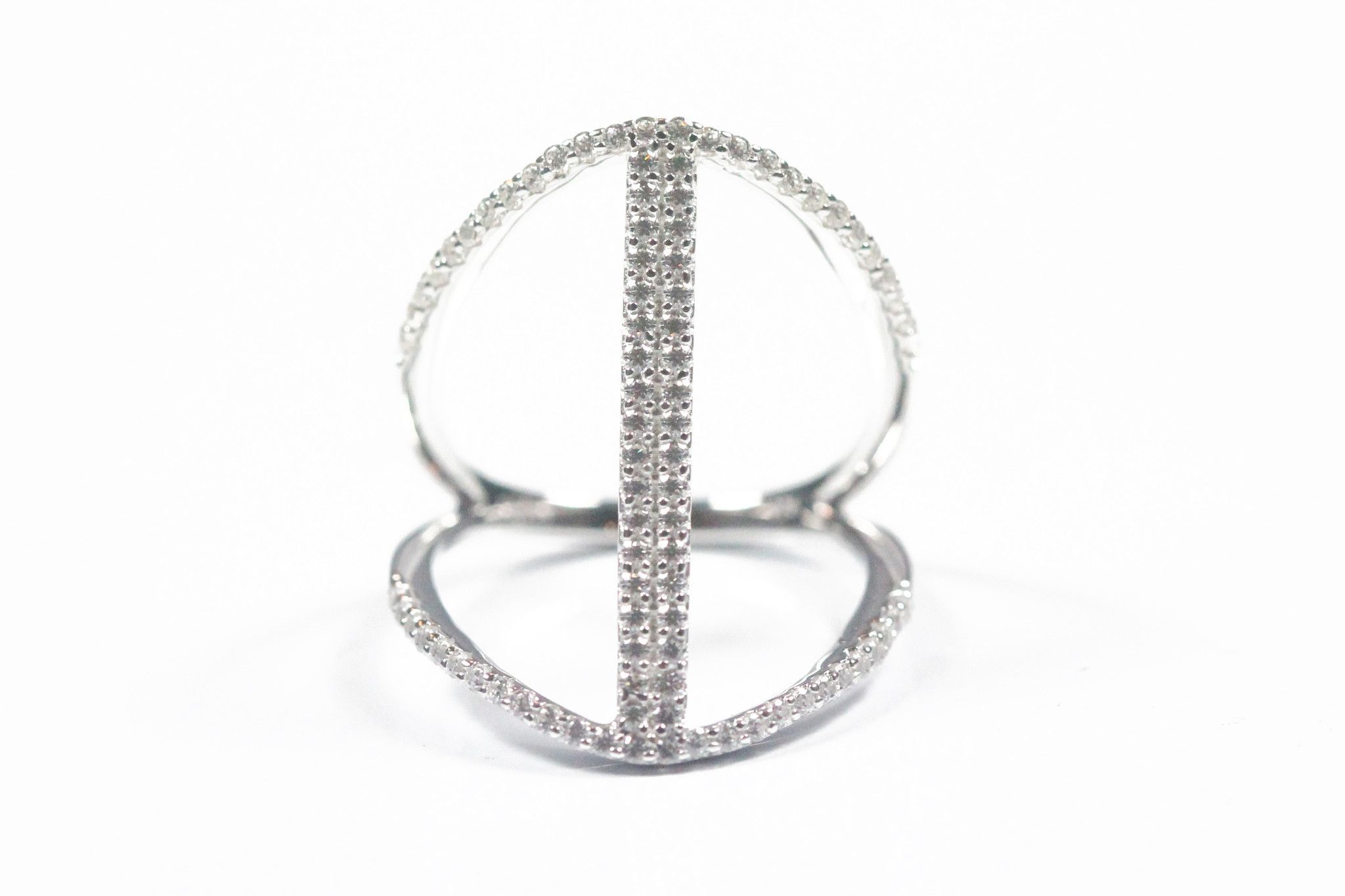 Sterling Silver Open Design Ring