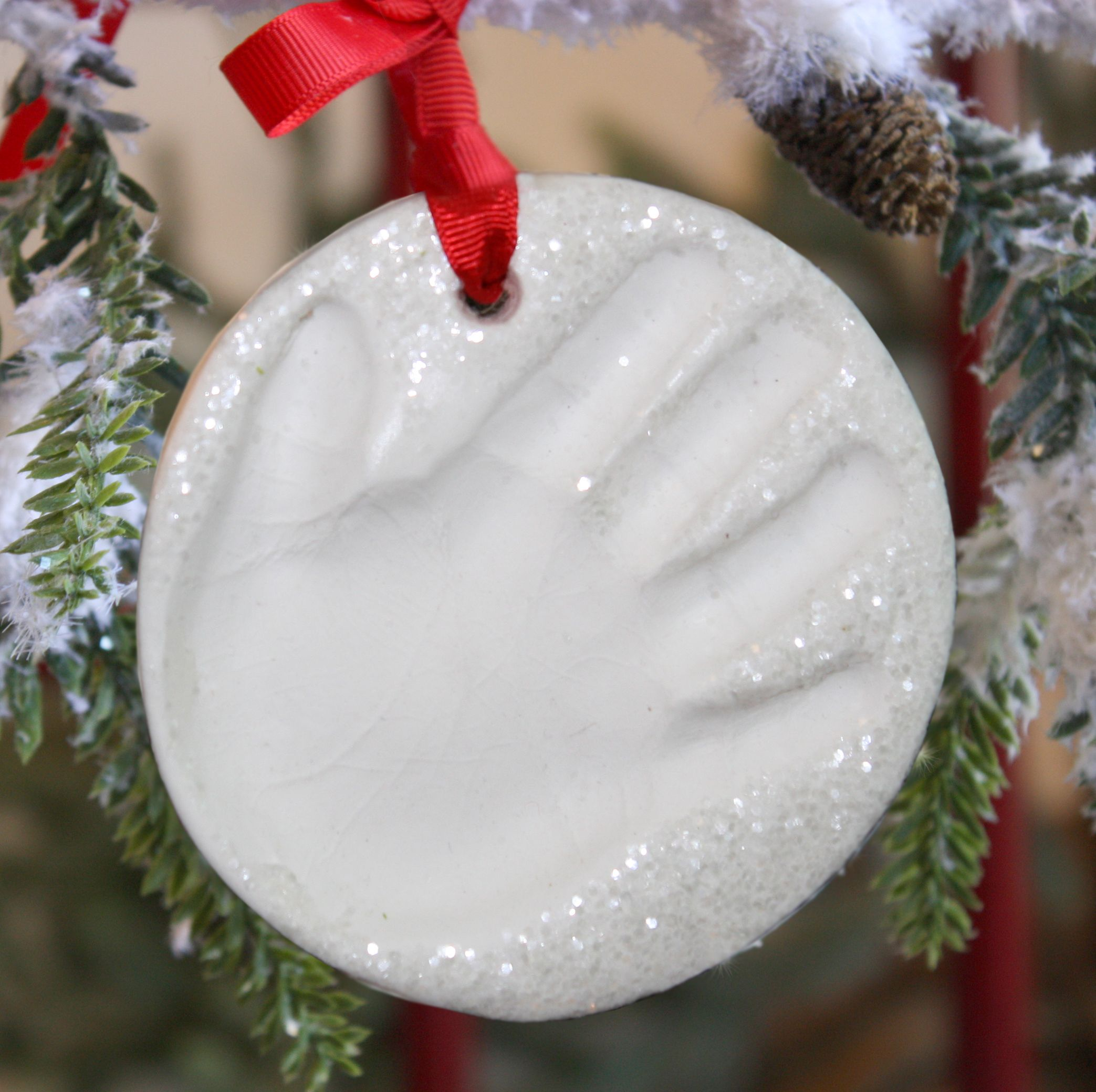 Child To Cherish Snowprints Handprint Ornament Kit Handprint Ornaments Baby Handprint Handprint Christmas