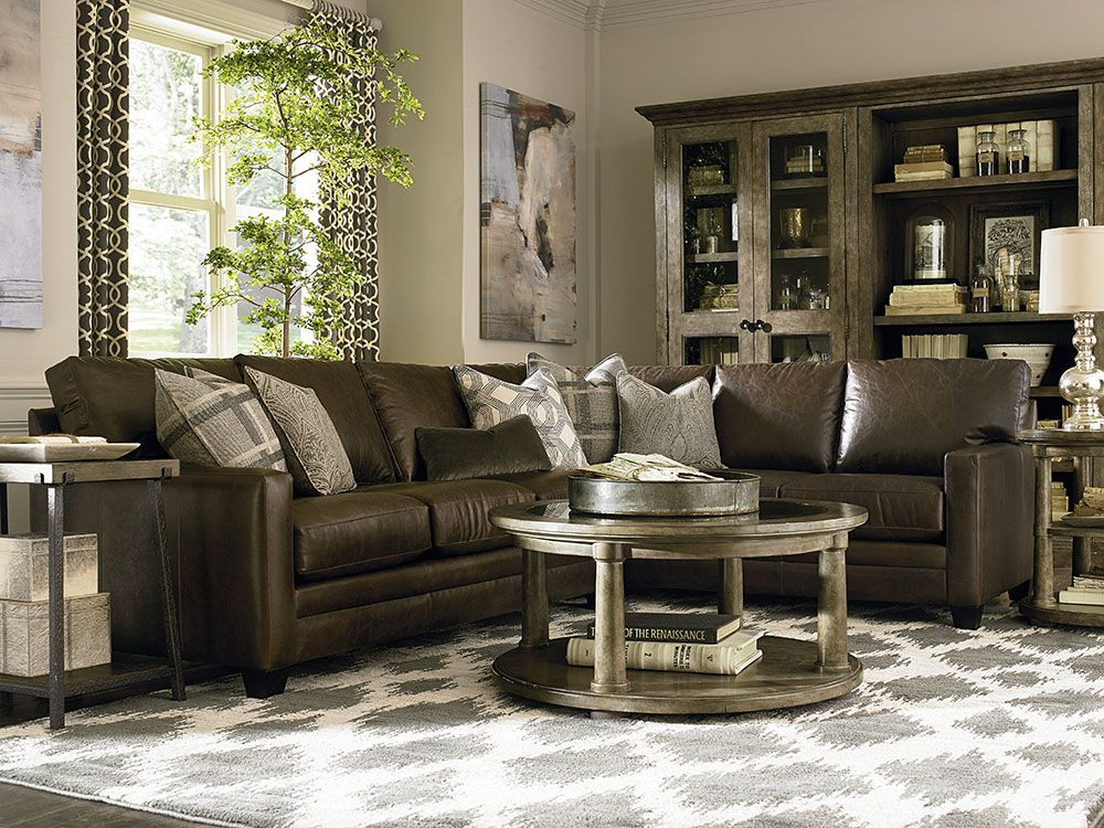 Genial Bassett Furniture   Custom Leather Ladson Sectional
