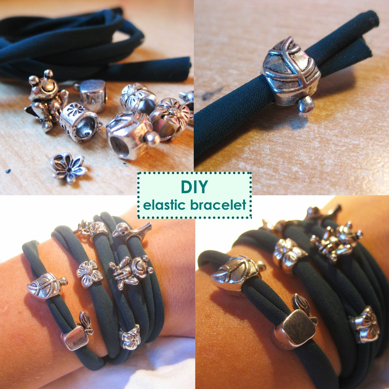 #diy #elastic #bracelets #tutorial #easy #quick # gift idea #handmade