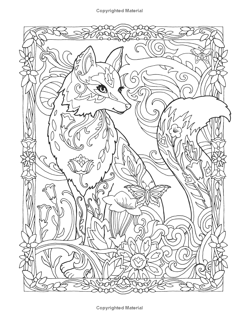 - Creative Haven Fanciful Foxes Coloring Book (Adult Coloring
