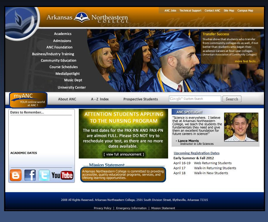 Arkansas Northeastern College College, University list