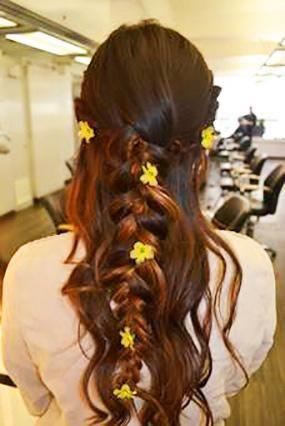 Great Summer Look - Bohemian Braid Crown + Flowers.
