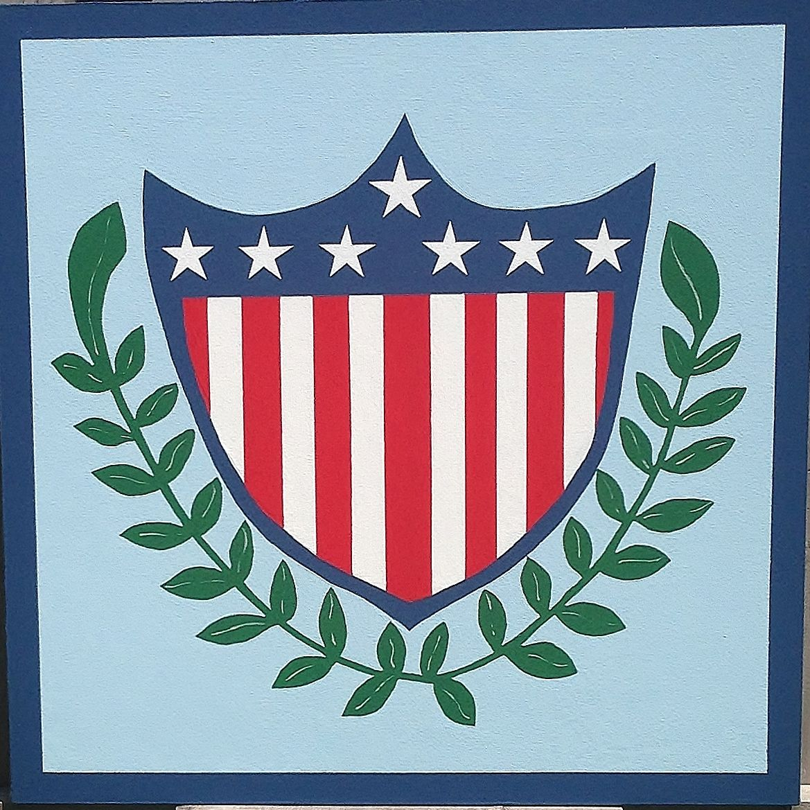 Patriotic shield american garden barn quilts barn quilt random patriotic shield american garden barn quilts biocorpaavc Images