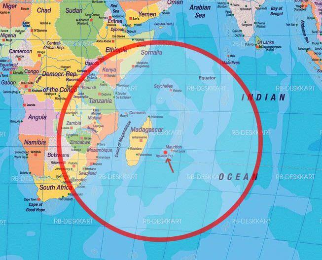 ile maurice carte du monde