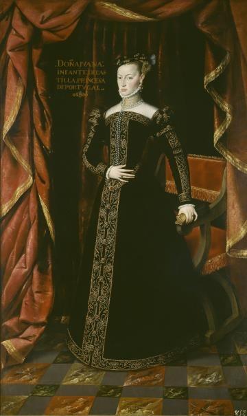 Juana de Austria, hermana de Felipe II, princesa de Portugal by Juan Pantoja de la Cruz - Colección - Museo Nacional del Prado