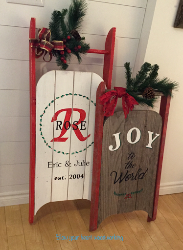 Diy Vintage Sleigh Christmas Signs By Follow Your Heart Woodworking