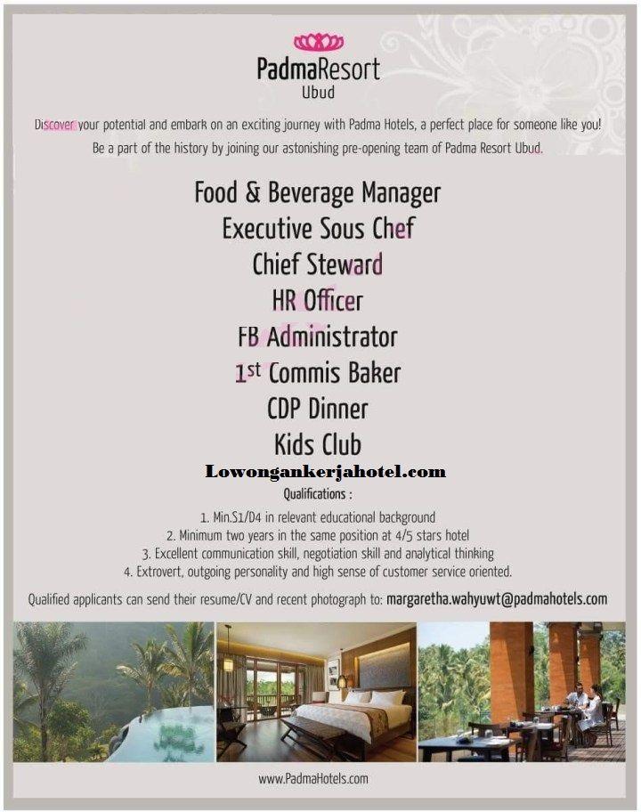 Lowongan Hotel Padma Resort Ubud Bali Terbaru Ubud Hotel Bali