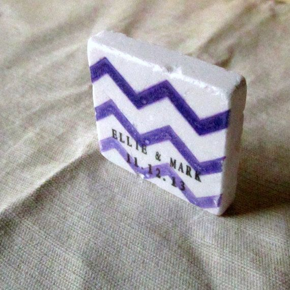 Purple Chevron Save the Date Magnets, Wedding Favors, Ombre from MyLittleChick #etteam #purple