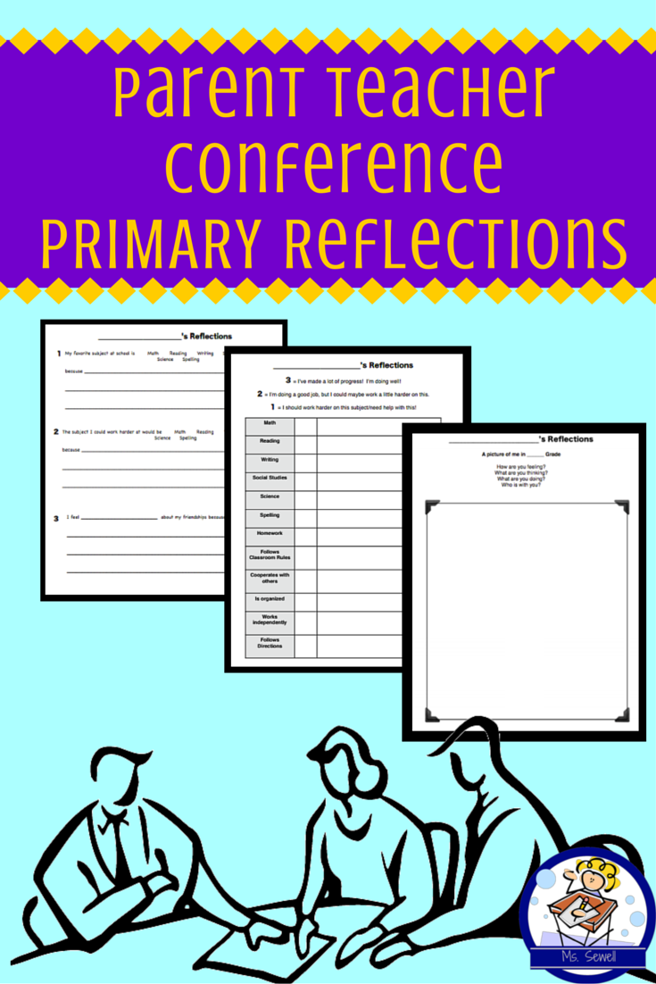 Parent Teacher Conference Reflection Packet For Primary Students