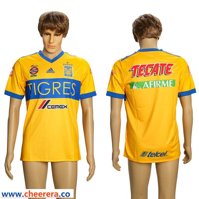 2a53043ed 2018-19 Tigres UANL Home Thailand Soccer Jersey