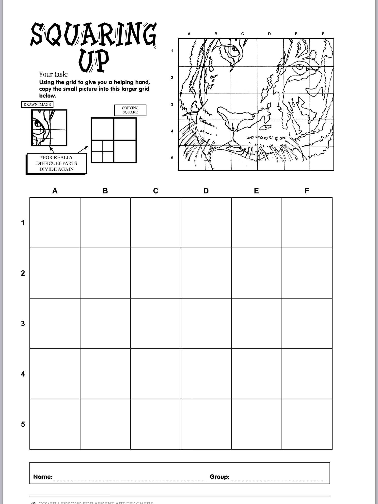 Worksheets Grid Art Worksheets pin by amy bouse on teaching drawing pinterest art lessons squaring up making a grid this is an excellent tool to practice lines and learning how shade sometimes in class we