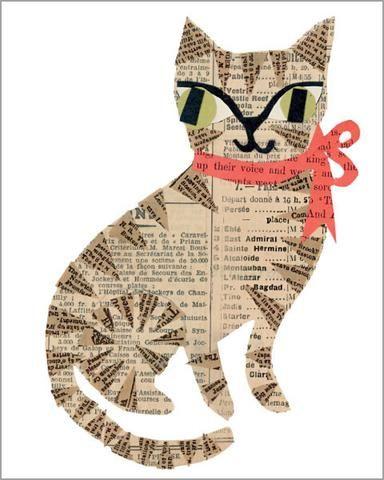 Resultado de imagem para collage work on animals | Paper collage ...