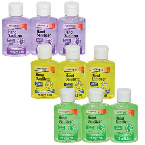 Assured 2 Oz Travel Sized Hand Sanitizers 2 Ct Packs Dollar Tree
