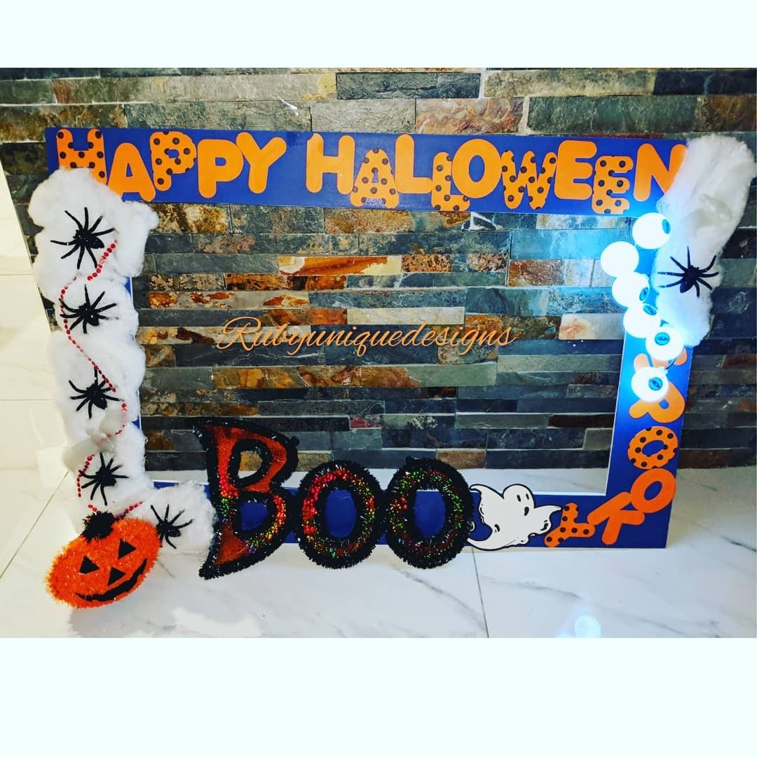 Lighted Glow Happy Halloween Photo Booth Frame for the