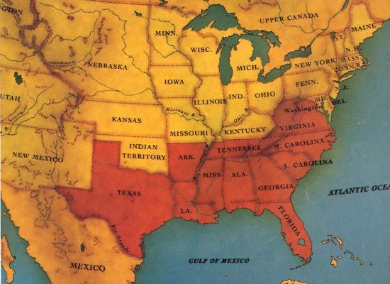 Final States Of The Confederates Southern Stuff Pinterest - The confederate states us territories and united states map
