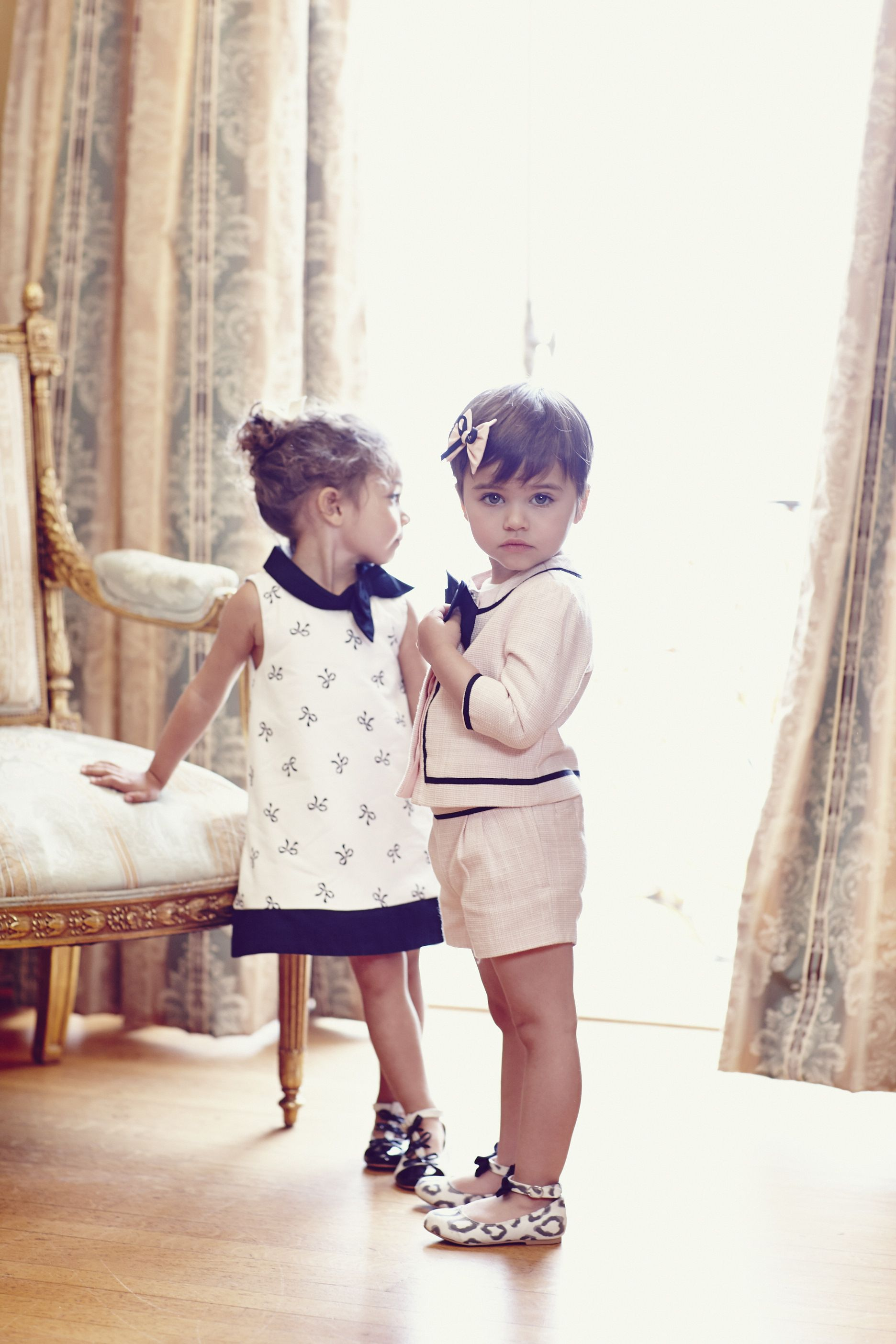 Adorable Bow Boucle Shorts Suit and Bow Dress Janie and Jack