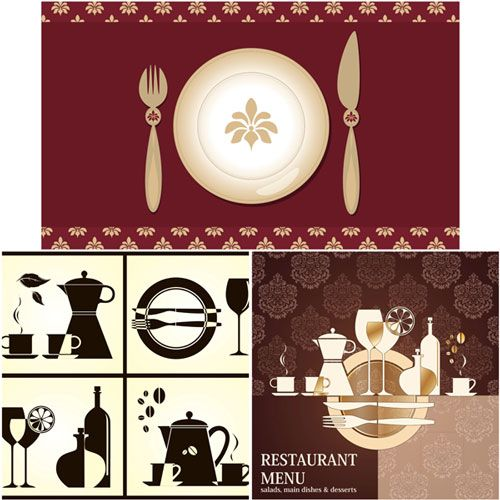 Restaurant-menu-templates-vector Graphic design l Графический - catering menu template free