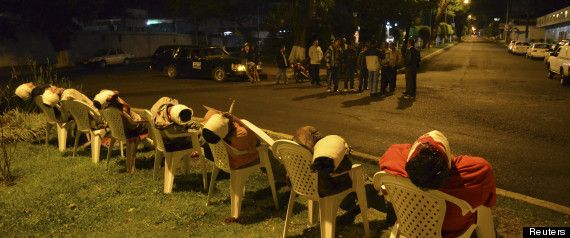 PHOTO: 7 Executed And Left On Mexican Roundabout | War | Drug cartel