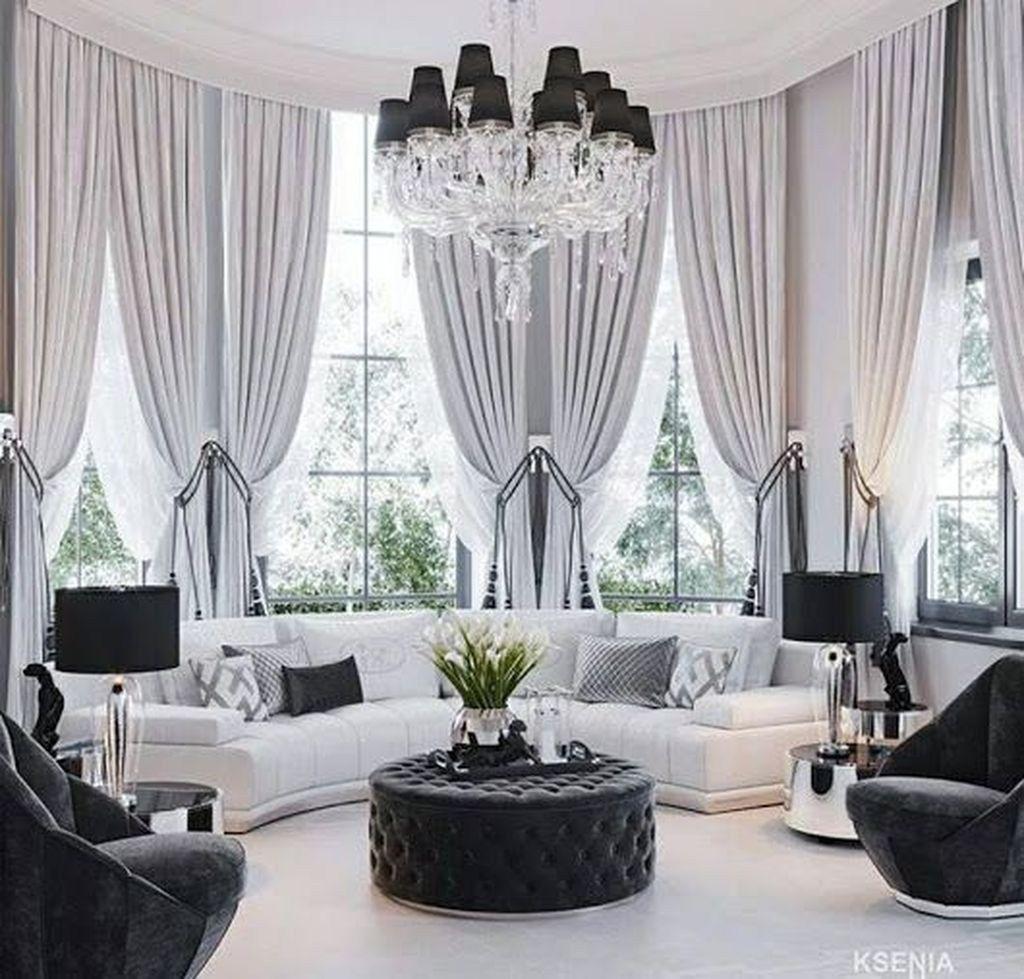 44 Beautiful Home Curtain Ideas For Your Interior Design To Looks Elegant Trendehouse Elegant Living Room Home Curtains Elegant Home Decor Beautiful living room home interior