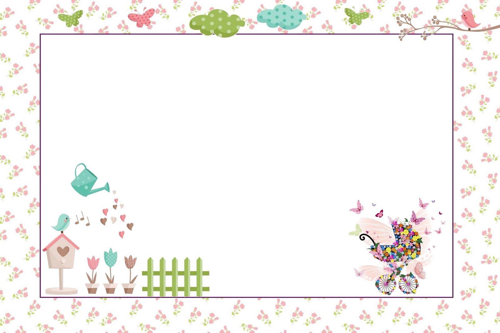 Convites Para Imprimir Tema Jardim Encantado Printables