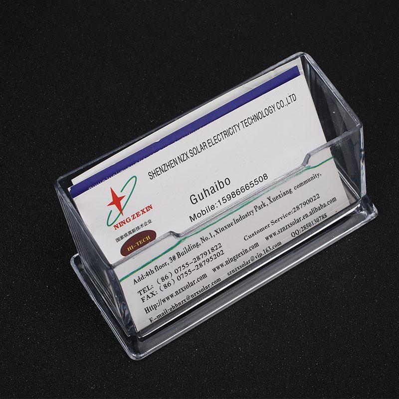 Transparent Klar Kunststoff Visitenkartenhalter Desktop
