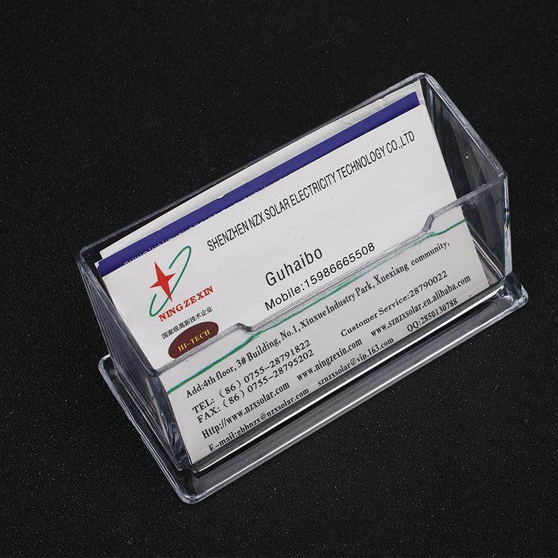 Transparent Clear Plastic Business Card Holder Desktop Counter ...