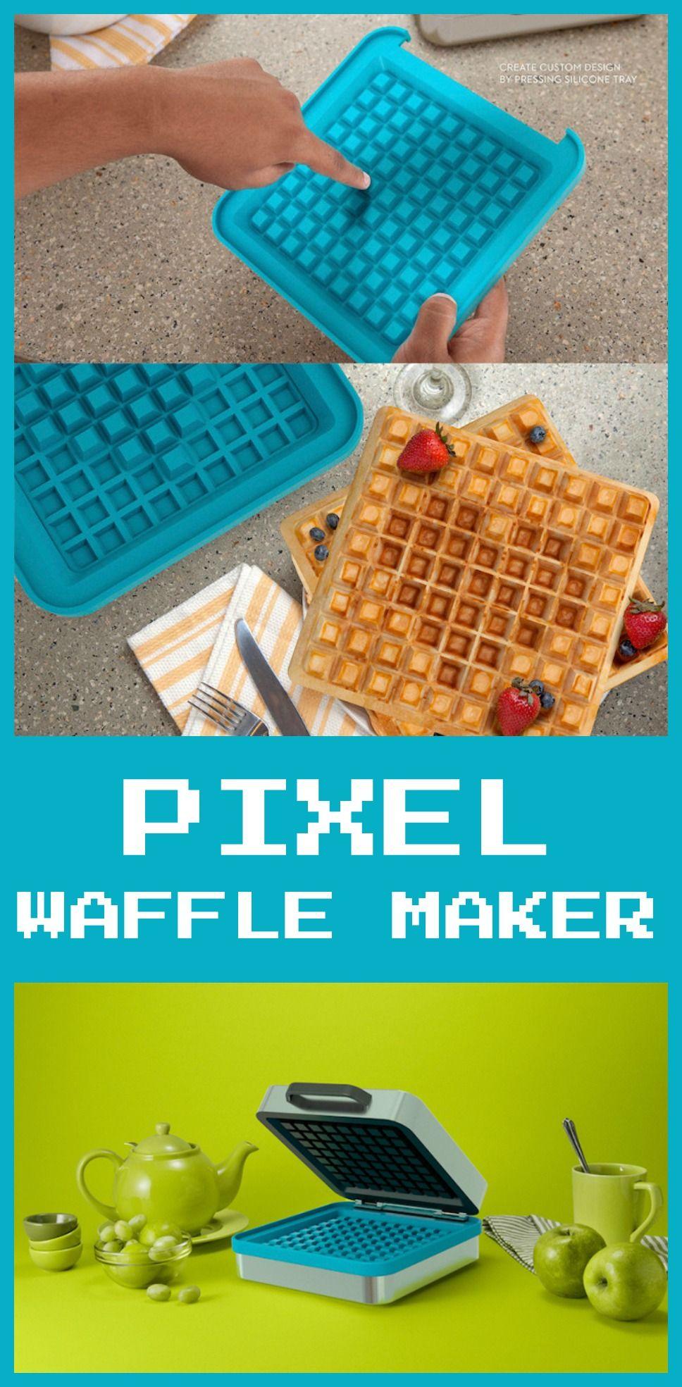 Pixel waffle maker | Fun Home Products | Pinterest | Waffles, Create ...