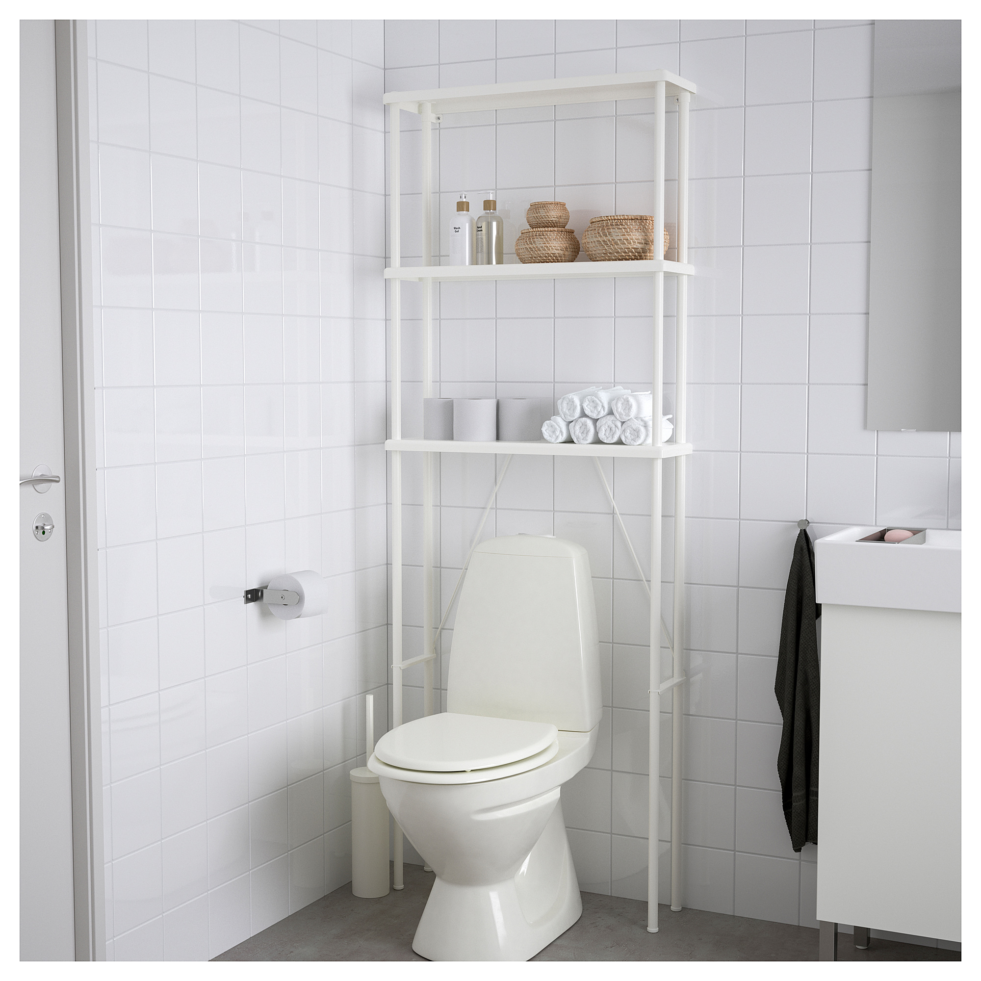 Dynan Open Storage White 27 1 2x7 7 8x74 3 8 Small Bathroom