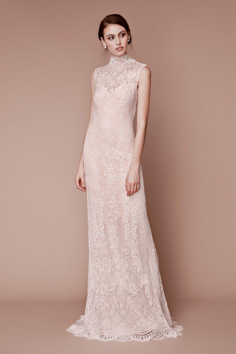 Tadashi shoji bridal fall 2019 fashion show glamour