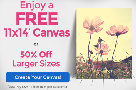 Free 11x14 Canvas From Canvas People Just Pay S H Photo